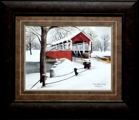 Billy Jacobs Crisp Winter Evening-Framed