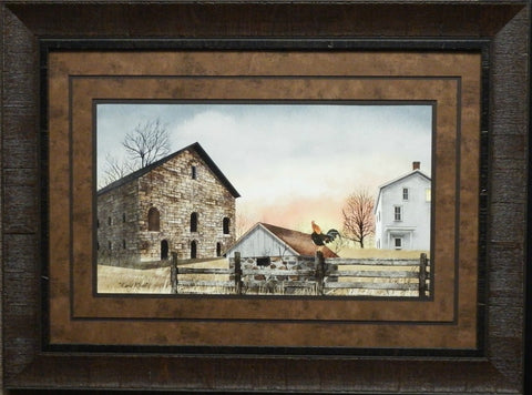 Billy Jacobs Early Riser Country Farm Art Print Framed