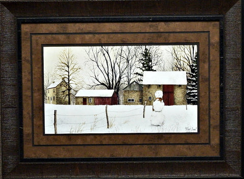 Billy Jacobs First Snow Country Art Print-Framed