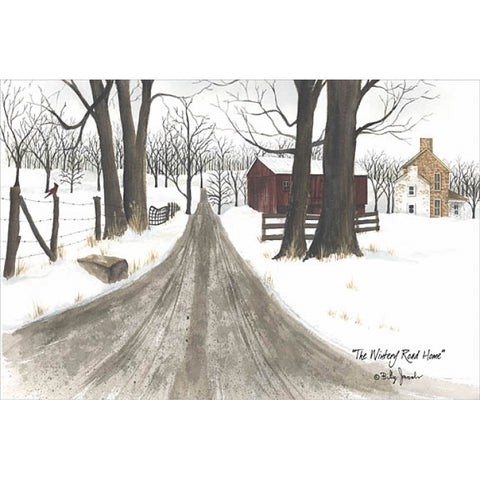 Billy Jacobs The Wintery Road Home Art Print-Free Shipping