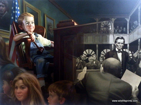 Bob Byerley Children's Print about Lawyer and Judge
