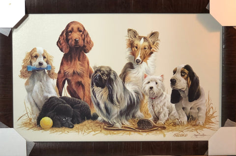 James Killen Prep Daze Dog Art Print-Framed 29 x 19