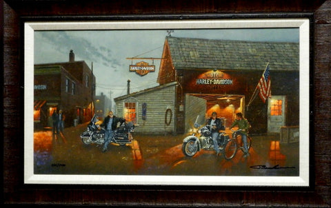 Dave Barnhouse King of the Road III S/N Canvas Print-Framed