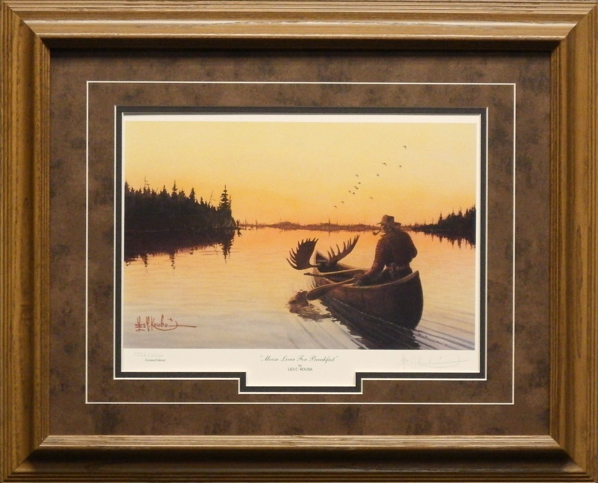 """Les Kouba /""""Moose Liver for Breakfast/"""" Signed and Numbered Art Print"""