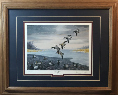 Les Kouba Open Water Duck Art Print-Framed
