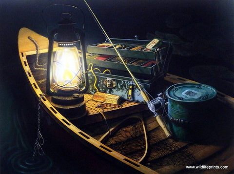 Doug Knutson Art Print LATE NIGHT FISHING