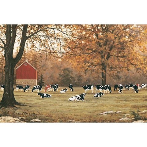 Bonnie Mohr Under the Autumn Oaks Cow and Farm Art Print