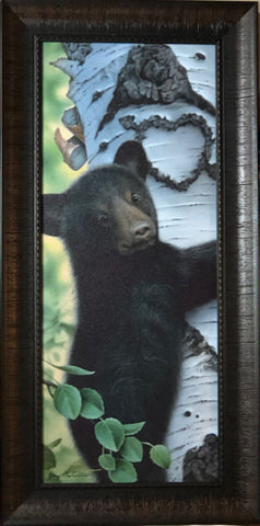Jerry Gadamus Mama's Boy Bear Cub Art Print-Framed