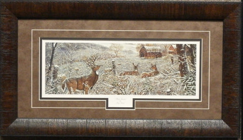 Ray Mertes First Snow Deer Buck Print-Framed