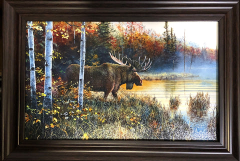 Jim Hansel Master of His Domain Moose Art Print Framed
