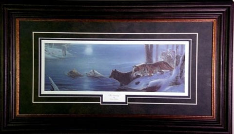 Erol Molnar The Crossing Wolf Print Framed