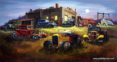 Dale Klee Old Street Rods Picture MOONLIGHT DEUCES
