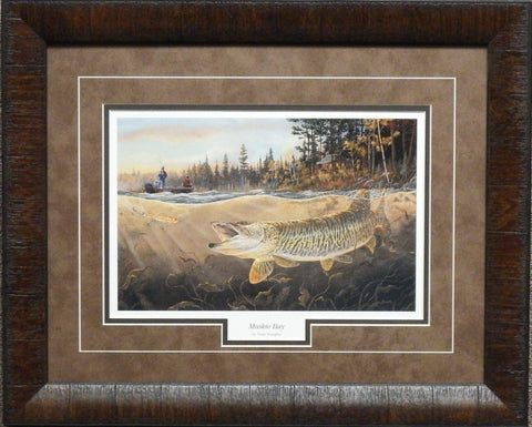 Terry Doughty Muskie Bay- Framed