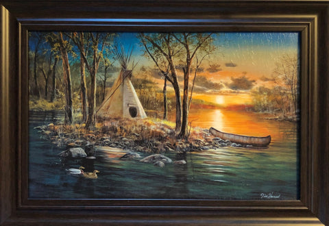Jim Hansel Native Lands Canoe Lake Art Print-Framed