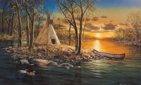 Jim Hansel Native Lands Canoe Lake Art Print 12 x 7.75
