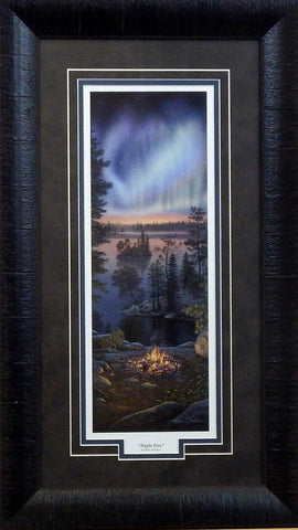 Kim Norlien Night Fire-Framed