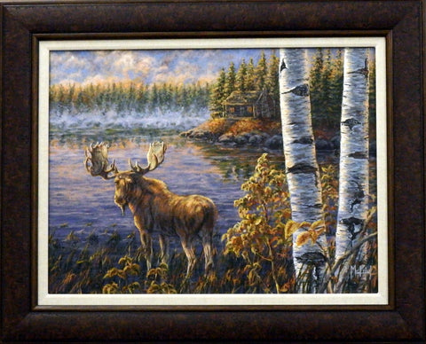 John McFaul North Country Moose- Original