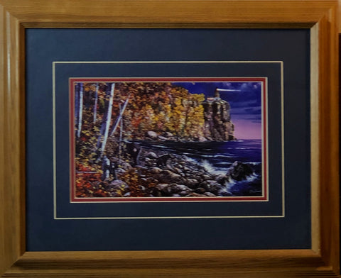Jim Hansel North Shore Visitors- Framed