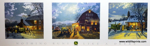 "Dave Barnhouse Nothing Runs Like A Deere - 32"" x 18.5"" Trilogy Open Edition"