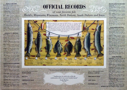 Les Kouba Official Fishing Records