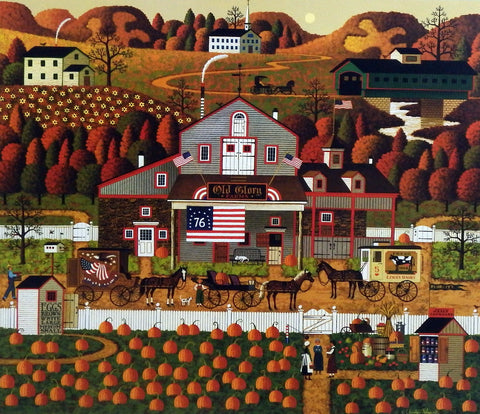Charles Wysocki Picture of Pumpkin Patch