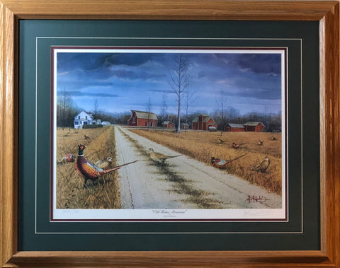 Les Kouba Old Home Reunion Pheasant Farm Art Print-Framed 29.5 x 23