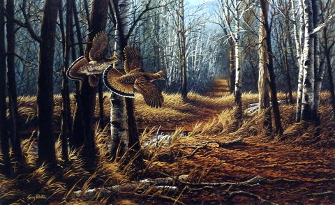 Terry Redlin Old Logger's Trail