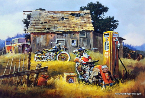 Dale Klee Old Car Shell Oil Picture OLD STYLE