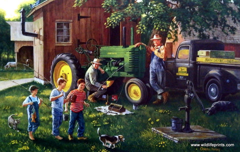 Charles Freitag picture John Deere tractor