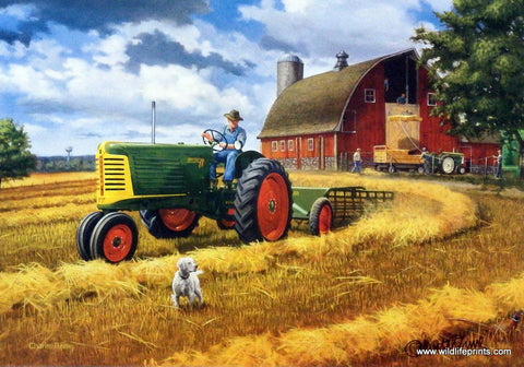 Charles Freitag Oliver Tractor Picture
