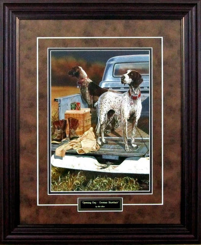 Scot Storm Opening Day German Shorthairs-Framed