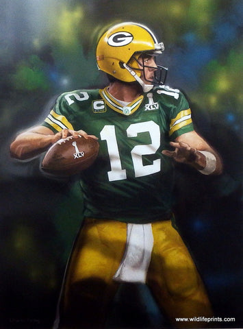 Picture of Aaron Rodgers Green Bay Packers by Charles Freitag