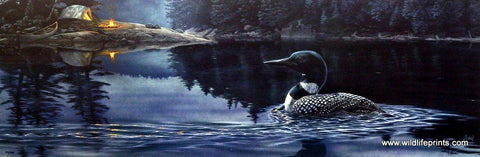 Al Agnew Loon on Lake Art Print OUTSIDE OF TIME