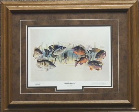 Les Kouba Panfish Bonanza Fishing Print-Framed