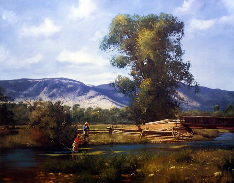 Brett Smith Fly Fishing Art Print Paradise Valley
