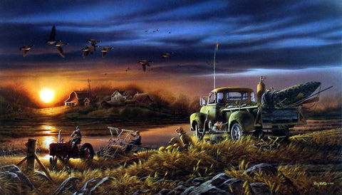 Terry Redlin Patiently Waiting