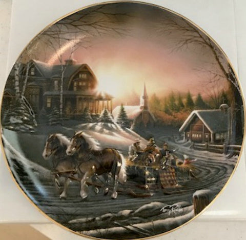 Terry Redlin Pleasures of Winter Limited Edition Plate