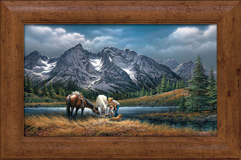 Terry Redlin For Purple Moutain Majesties Canvas-Framed