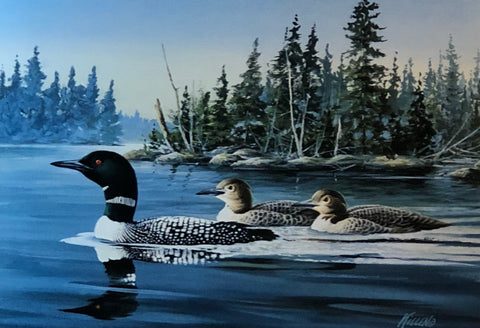 James Killen Quiet Waters Loon Lake Art Print-Signed