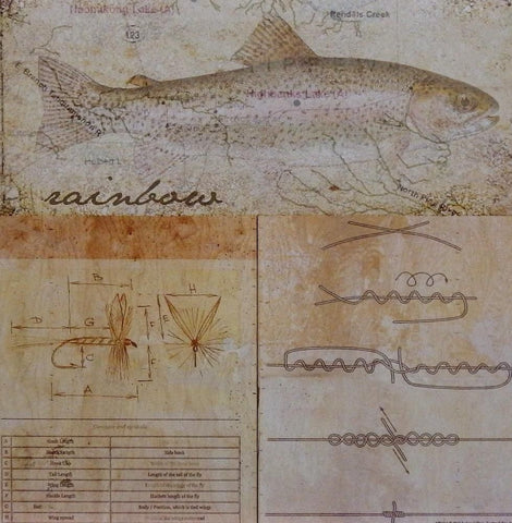 Andrew Sullivan Rainbow Trout Art Fishing Print