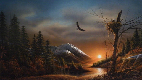 Redlin Flying Free Eagle Art Print Elite 24 x 14
