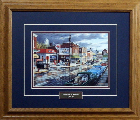 Ken Zylla Reflections on Main St.- Framed