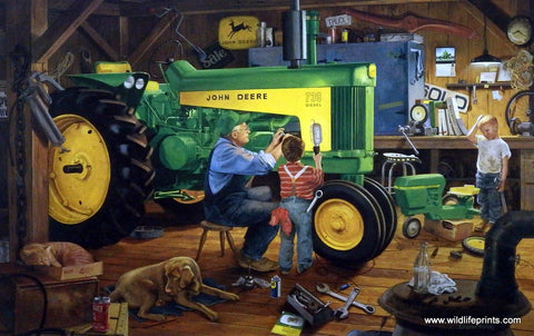 Charles Freitag picture of John Deere tractor RESTORATION II