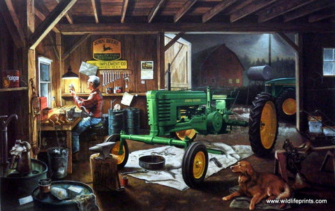Charles Freitag John Deere picture RESTORATION