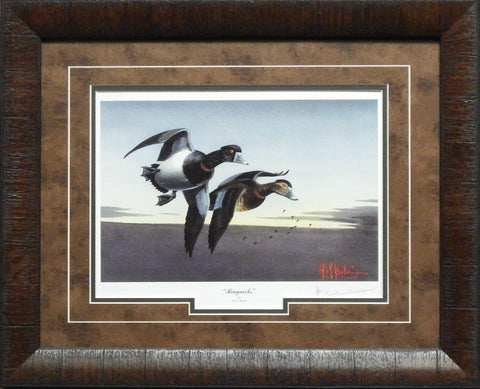 Les Kouba Ringnecks Duck Art Print-Framed