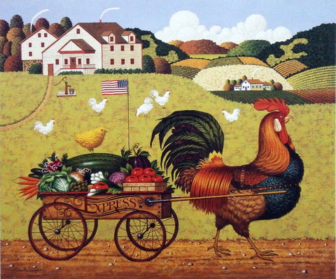 Charles Wysocki farm picture Rooster Express