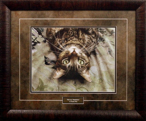 Sueellen Ross Peculiar Perspective Cat Print Framed