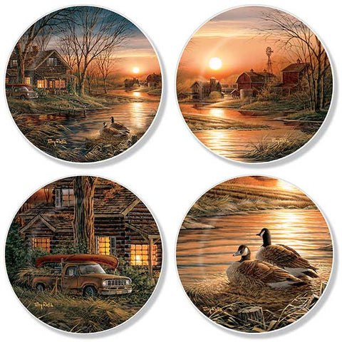 Mini Plate Set Terry Redlin Shoreline Neighbors