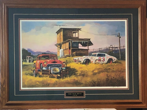 Dale Klee Short Track Chevies S/N Art Print-Framed