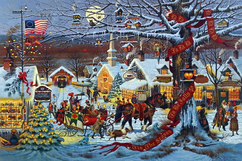 Charles Wysocki Small Town Christmas Picture